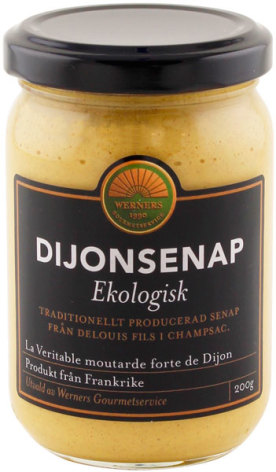 Dijonsenap, ekologisk – Werners Gourmetservice