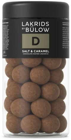 D – chokladöverdragen sötlakrits med havssalt och karamell– Lakrids by Bülow