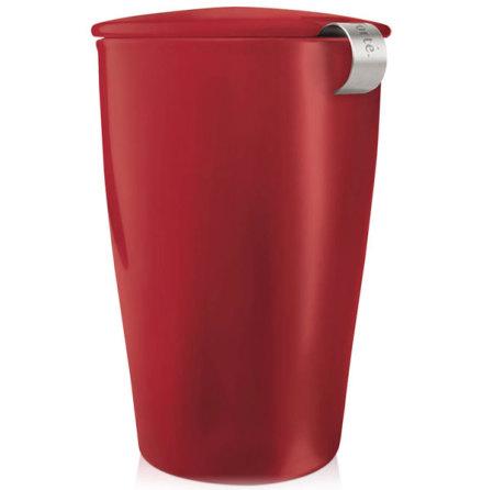 Kati Cup cranberry red - tekopp och sil - Tea Forté