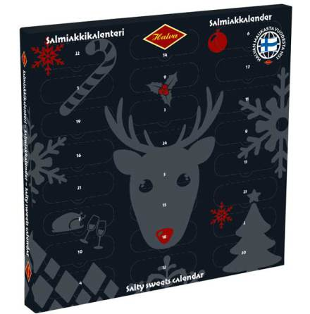 Salmiakkalender / salmiakkikalender / lakritskalender 2019 - Halva lakrits