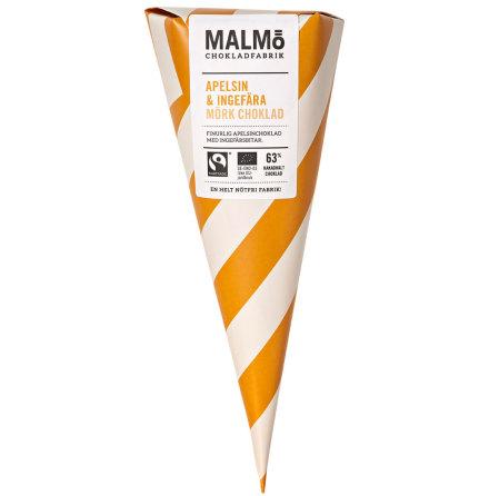 Apelsin & ingefära i mörkchoklad 63 % - Malmö Chokladfabrik