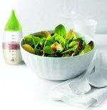 Klämflaska i silikon med borste och munstycke - Prepara