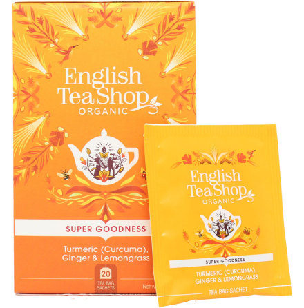 Gurkmeja, ingefära, citrongräs, örtte - English Tea Shop