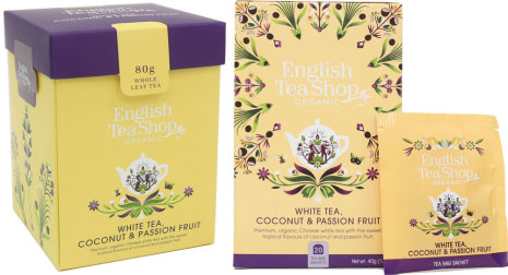 Vitt te med kokos & passionsfrukt - English Tea Shop