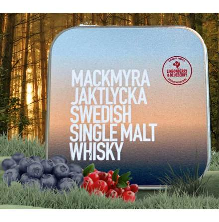 Mackmyra Jaktlycka med toner av Blåbär & Lingon - Pastillfabriken
