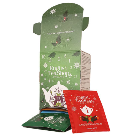 Ekologiskt te adventskalender i ask 2020 - English Tea Shop