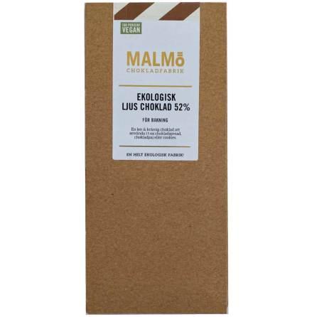 Vegansk ljus choklad 52 % - Malmö Chokladfabrik