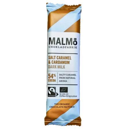 Mörk mjölkchoklad salt karamell & kardemumma 54 % - Malmö Chokladfabrik