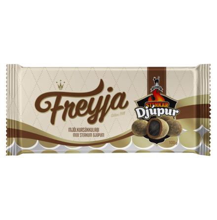 Sukkulaði Sterkar Djúpur - lakrits, choklad & salmiakpulver - Freyja