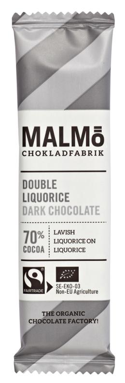 Dubbellakrits mörkchoklad 70 % - Malmö Chokladfabrik