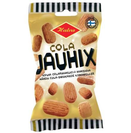 Cola Jauhix – hårda karameller med colasmak - Halva Lakrits
