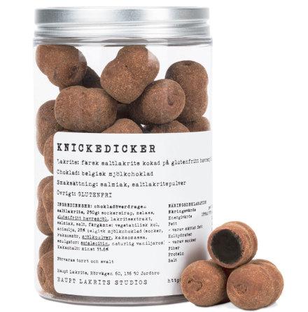 Knickedicker – glutenfri saltlakrits & mjölkchoklad - Haupt Lakrits