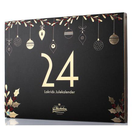Adventskalender med chokladdragérad lakrits 2021 – Sv. Michelsen