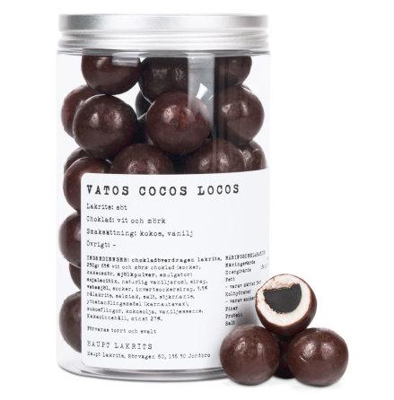Vatos Cocos Locos - sötlakrits med vit- och mörk choklad & kokos - Haupt Lakrits