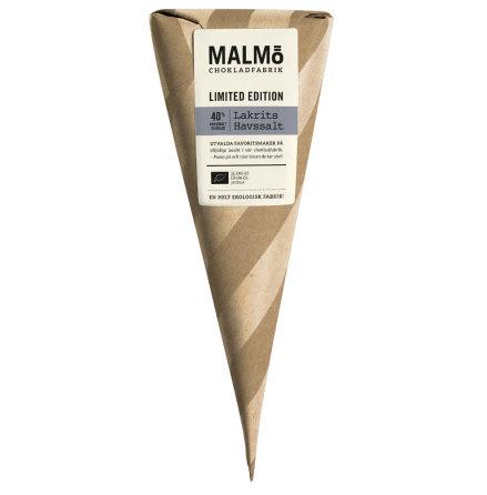 Lakrits och havssalt, ekologisk mjölkchoklad 40 % - Malmö Chokladfabrik